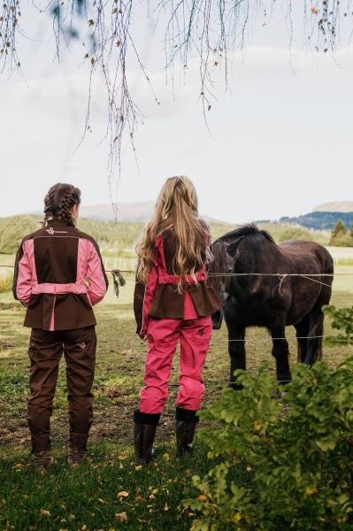 1298d6d0 Arbeidsbukse for damer bringebær/jord - Traktorpikene